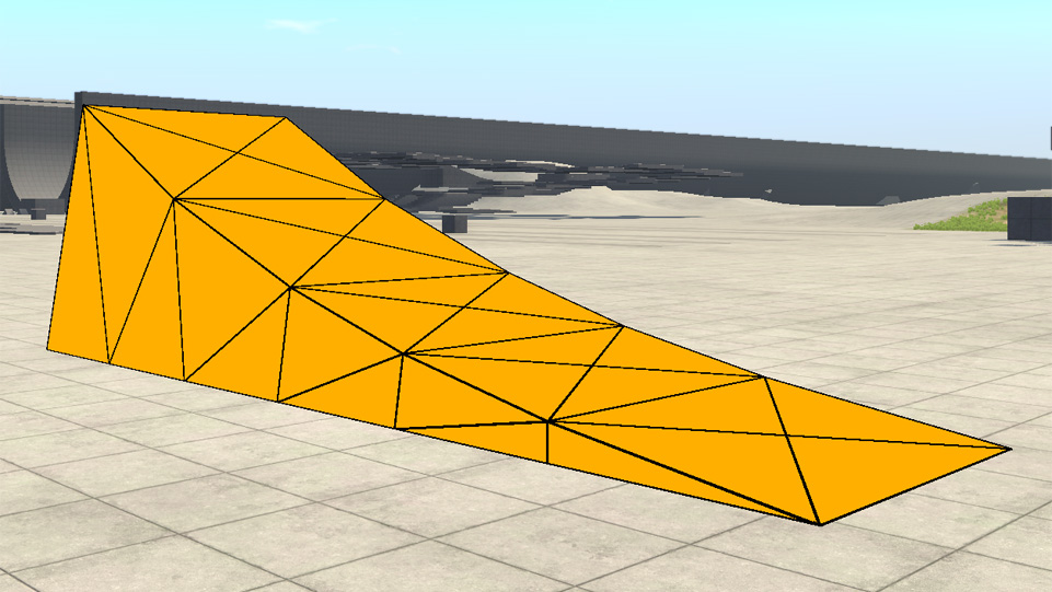 Screenshot of the ramp in an orange colour.